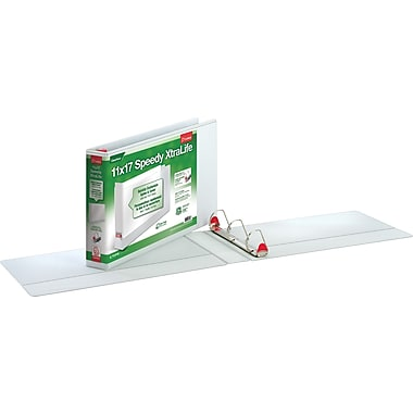 Cardinal 1in.   Speedy XtraLife Locking Slant-D Ring Binder, White