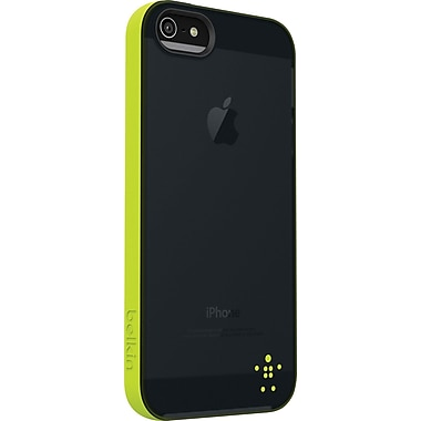 Belkin Grip Candy Sheer Case for iPhone 5, Glow/Blacktop