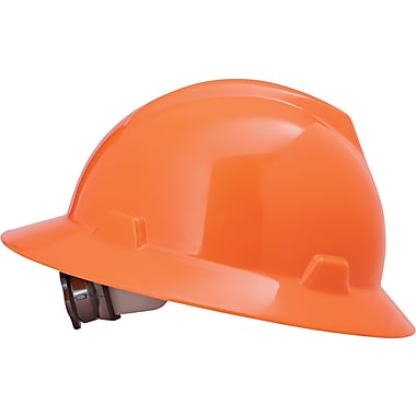 MSA Safety® Non-Slotted Protective Caps and Hats, Polyethylene, Standard, Hat, Hi-Viz Orange