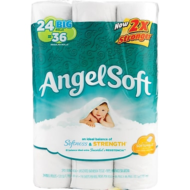 Angel Soft Big Rolls Bath Tissue, 2-Ply, 24 Rolls/Pack