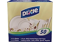 Dixie® All-In-One™ Tableware Combo Pack, 50 Place Settings