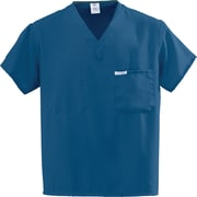 Medline PerforMAX Unisex Small One-Pocket Reversible Scrub Top, Royal Blue (810JRLS-CA)
