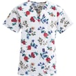 ComfortEase™ Ladies Two-pockets V-neck Scrub Tops, Autumn Glow Print, Medium