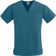 Medline ComfortEase Women 5XL V-Neck Scrub Top, Caribbean Blue (8800JCB5XL)