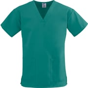 ComfortEase™ Ladies Two-pockets V-neck Scrub Tops, Evergreen, 3XL