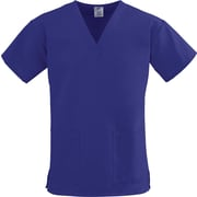 ComfortEase™ Ladies Two-pockets V-neck Scrub Tops, Purple, XS
