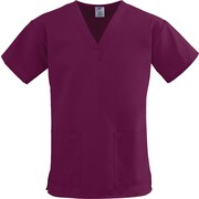 Medline ComfortEase Women Medium V-Neck Scrub Top, Wine (8800JWNM)