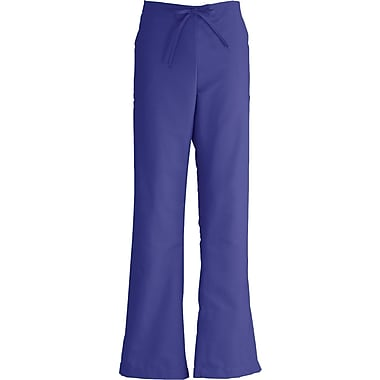 ComfortEase™ Ladies Drawstring and Elastic Waist Cargo Scrub Pants, Purple, Large, Reg Length