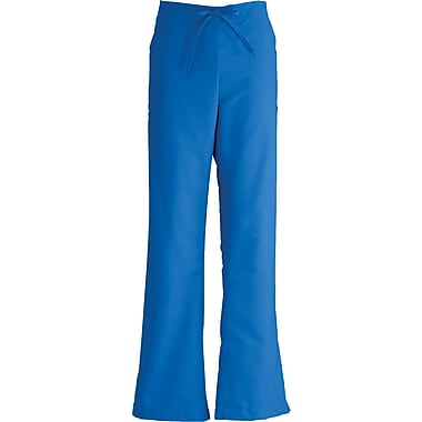 ComfortEase™ Ladies Drawstring and Elastic Waist Cargo Scrub Pants, Royal Blue, XL, Reg Length