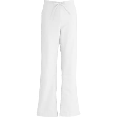 ComfortEase™ Ladies Drawstring and Elastic Waist Cargo Scrub Pants, White, Small, Reg Length