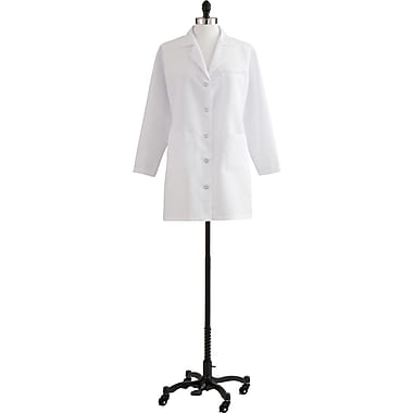 Medline Ladies Staff Length Classic Lab Coats, White, 24 Size