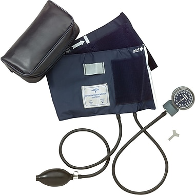 Medline Nite-Shift Premier Handheld Aneroid, Adult Large, Contains Luminescent Gauge
