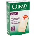 Curad® Adhesive Bandages, Sheer, XL Size, 3 3/4in. L x 2in. W, 10 Bandages/Box, 24 Boxes/Case