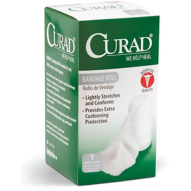 Curad® Gauze Bandage Rolls, 4 yds L x 4 1/2in. W, 24/Pack