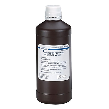 Medline MDS098002 3% U.S.P Hydrogen Peroxide 16 oz., 12/Box