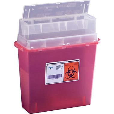 Medline Biohazard Patient Room Sharps Containers, 5 qt