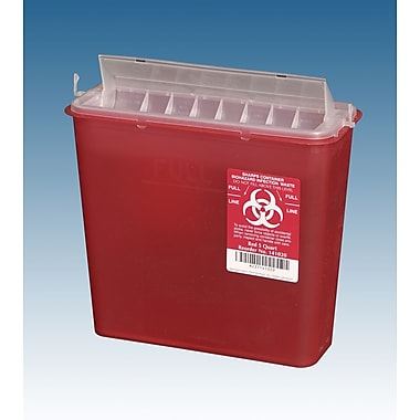 Medline Biohazard Sharps Containers, 5 qt