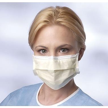 Prohibit® – Masques d'isolement de base avec contours d'oreilles, aune, bte/300