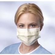 Prohibit® Basic Isolation Face Masks with Earloops, Yellow, 300/Box