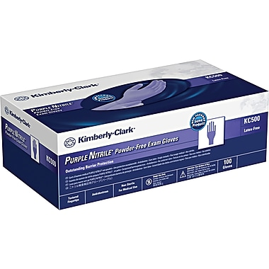 Kimberly-Clark Nitrile Exam Gloves, Purple, Small, 100/Box
