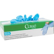 Curad® Nitrile Exam Gloves, Small, Blue, 100/Box