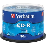 Verbatim, 50/Pack CD-R 80MIN 700MB 52X Branded, Spindle