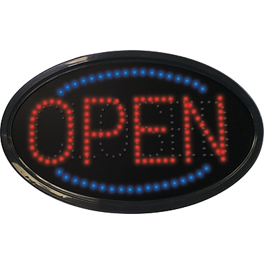 Mystiglo LED Oval Open-Closed Sign
