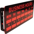 Mystiglo LED Business Hours  In-Light Sign