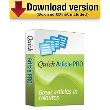 Quick Article Pro for Windows (1-User) [Download]