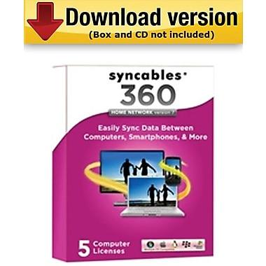 Syncables – 360, version 7 de Home Network pour Windows (1 - 5 utilisateur) [Téléchargement]