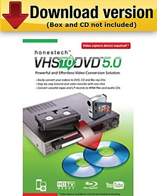 Honestech VHS to DVD 5.0 Software Upgrade for Windows (1-User) [Download]