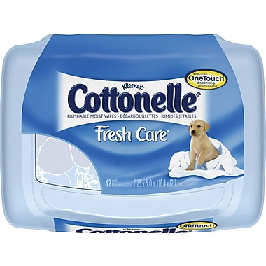 Cottonelle Fresh Care™ Flushable Wipes OneTouch™ Dispenser, 42 Wipes/Box