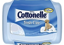 Cottonelle® Fresh Care™ Flushable Wipes OneTouch™ Dispenser, 42 Wipes/Box