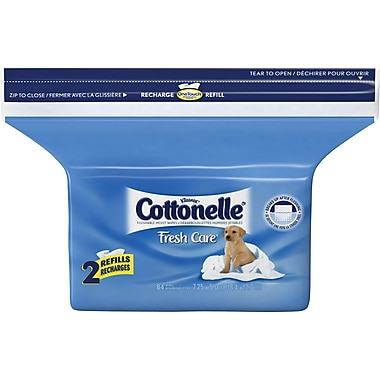 Cottonelle Fresh Care™ Flushable Wipes, Refill, 84 Wipes/Pack