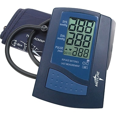 Medline Automatic Digital Blood Pressure Monitors, Adult Large Cuff, Latex-free