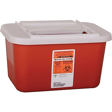 Medline Biohazard Multipurpose Sharps Containers, 1 gal.,