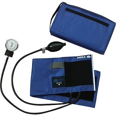 Medline Compli-Mates Aneroid Sphygmomanometers, Red, Adult