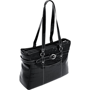 McKlein Siamod Monterosso Collection Serra Ladies Laptop Tote, Black