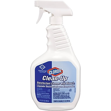 Clorox® Clean-Up Disinfectant Cleaner with Bleach, Fragrance-Free, 32 oz. Bottle, 9/Ctn