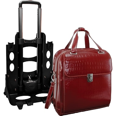 McKlein Siamod Monterosso Collection Novembre Ladies Wheeled Laptop Case, Red