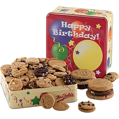 Mrs. Fields Birthday Balloons Tin, 60 Nibblers