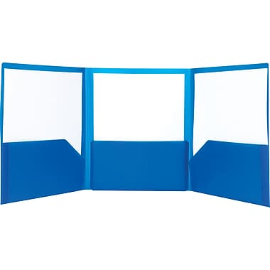 Staples Tri-Fold Report Cover, Dark Blue