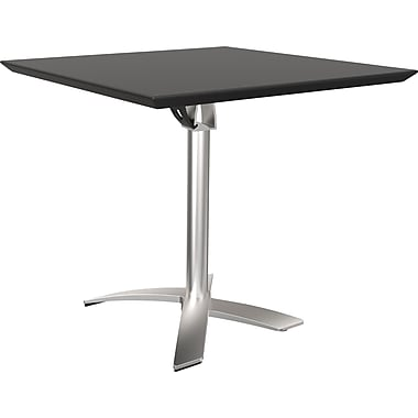 Balt Folding Square Bistro Table, Black