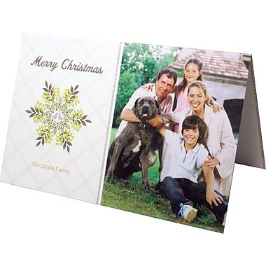25 5x7 Folded Custom Holiday Cards