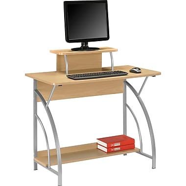 Staples Cameron Computer Desk, Maple