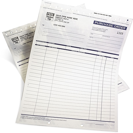Custom Business Forms Carbonless Forms Staples - Custom carbon paper invoices