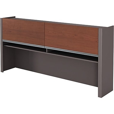 Bestar Connexion Collection Credenza Hutch, Bordeaux & Slate