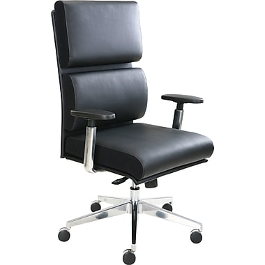Tempur-Pedic Leather Computer and Desk Office Chair, Black, Fixed Arm (TP1000-BLACK)