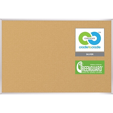 Best-Rite® 4' X 4' VT Logic Board Eco-Friendly Corkboard
