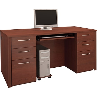 Bestar Embassy Double Pedestal Executive Desk, Tuscany Brown